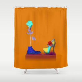 Proposal to May in May - Shoes stories Shower Curtain