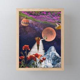 A walk in time.  Framed Mini Art Print