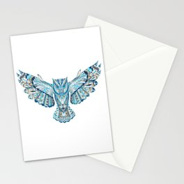 Flying Colorful Owl Design Stationery Cards