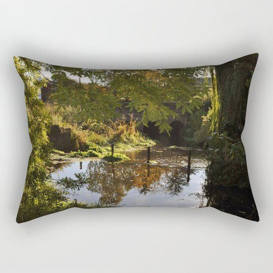 River by the mill  Rectangular Pillow