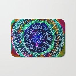 Colorwheel Mandala Teal Bath Mat