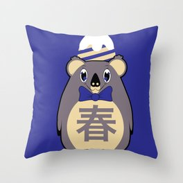 Haru - Season bear Spring Throw Pillow