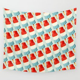USA 4th of July Popsicle Pattern Wall Tapestry