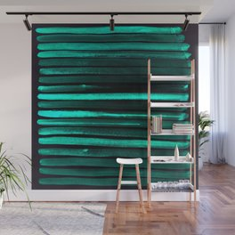 We Have Cold Winter Teal Dreams At Night Wall Mural