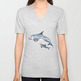 Risso´s Dolphin Unisex V-Neck