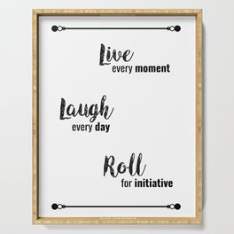 Live, Laugh... Roll for Initiative | DND & RP Serving Tray