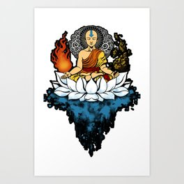 Aang Enlightment Art Print
