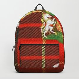 RED & GREEN CAMERON TARTAN ROYAL SCOTLAND Backpack