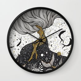 Cosmic Interaction Wall Clock