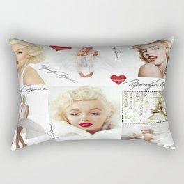Marilyn Monroe Collage Rectangular Pillow