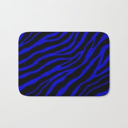 Ripped SpaceTime Stripes - Blue Bath Mat