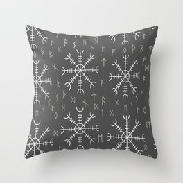 Viking magical stave Throw Pillow