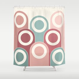 1940s Era Circle Art (Light) Shower Curtain