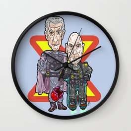 The Mutant Bros through time...  Prof X and Magneto... The X-men! Wall Clock