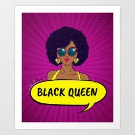 BLACK QUEEN Art Print