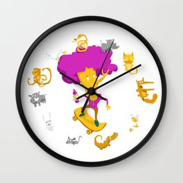 Flame Sauce WildChlid Wall Clock