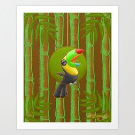 Squawking Toucan! Art Print