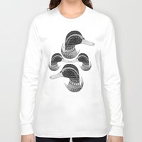 ducks Long Sleeve T-shirts featuring INDIAN DUCKS by Kiley Victoria
