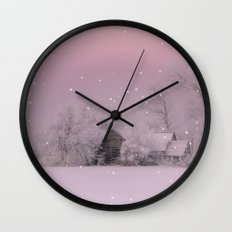 Cold Winter morning in Germany Wall Clock