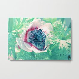 Lovely Summerflower in light green Metal Print