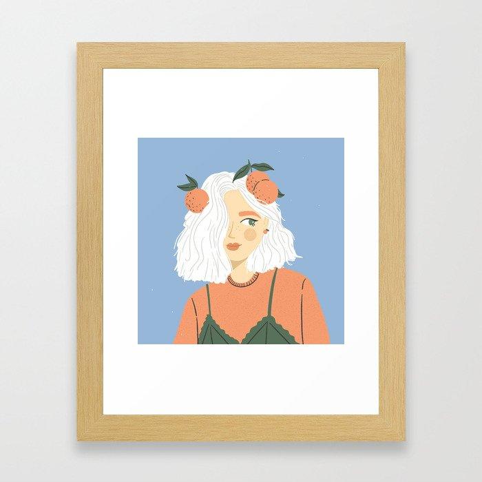 Clementine Girl Framed Art Print