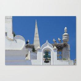 Arco da Vila storks Canvas Print