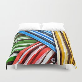 Striped Planes Duvet Cover