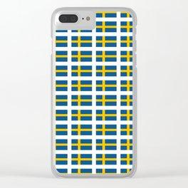 flag of sweden -  Swedish,Sverige,Swede,Stockholm,Scandinavia,viking,bergman, strindberg Clear iPhone Case