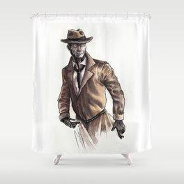 Nick Valentine Shower Curtain