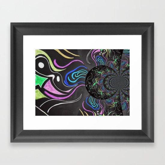 Dark Colour Framed Art Print