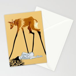 Fox & Girl Stationery Cards
