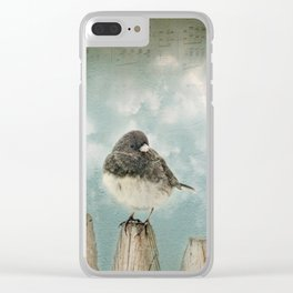 Winter bird Clear iPhone Case