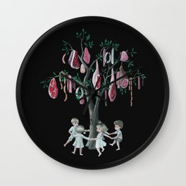 The Meat Tree Wall Clock