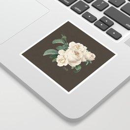 White vintage flowers- faith Sticker