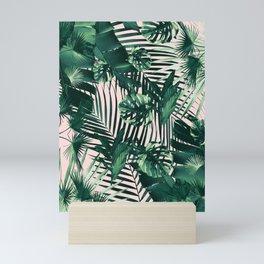 Tropical Jungle Leaves Siesta #1 #tropical #decor #art #society6 Mini Art Print