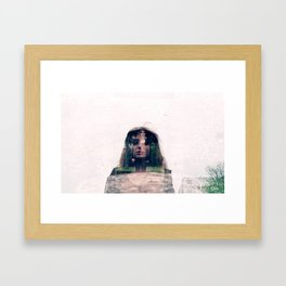Double Exposure Framed Art Print
