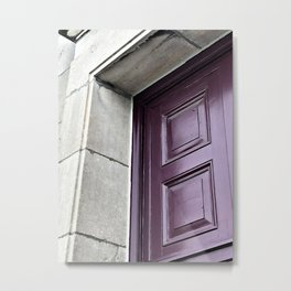 A Simple Purple Door Metal Print