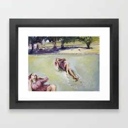 Agnes on the lawn Framed Art Print