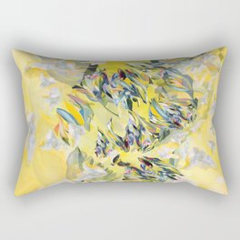 Yellow Flower Storm Rectangular Pillow