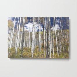 Blue Skies Over Aspen Metal Print