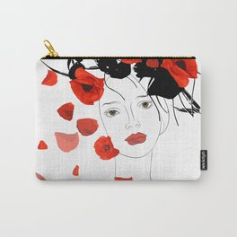 girl poppy red Carry-All Pouch