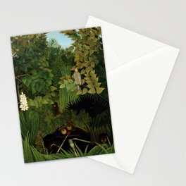 """Henri Rousseau """"Merry jesters"""", 1910 Stationery Cards"""