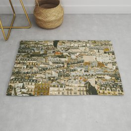 A Mosaic of Apartments in Paris, France. Rug