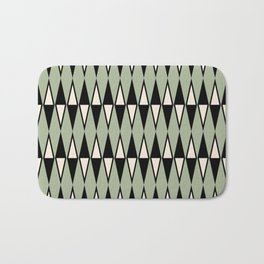 Mid Century Modern Diamond Pattern Sage Green 234 Bath Mat
