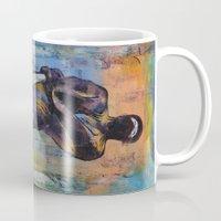 ninja Mugs featuring Ninja by Michael Creese