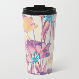 Tulips in Cotton Candy Travel Mug