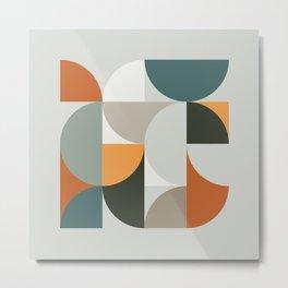 Mid Century Geometric 12 Metal Print