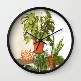 Plant Pots Wall Clock
