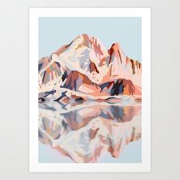 Dreamy Mont Blanc Art Print