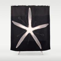 starfish Shower Curtains featuring Starfish by Chloe Evert